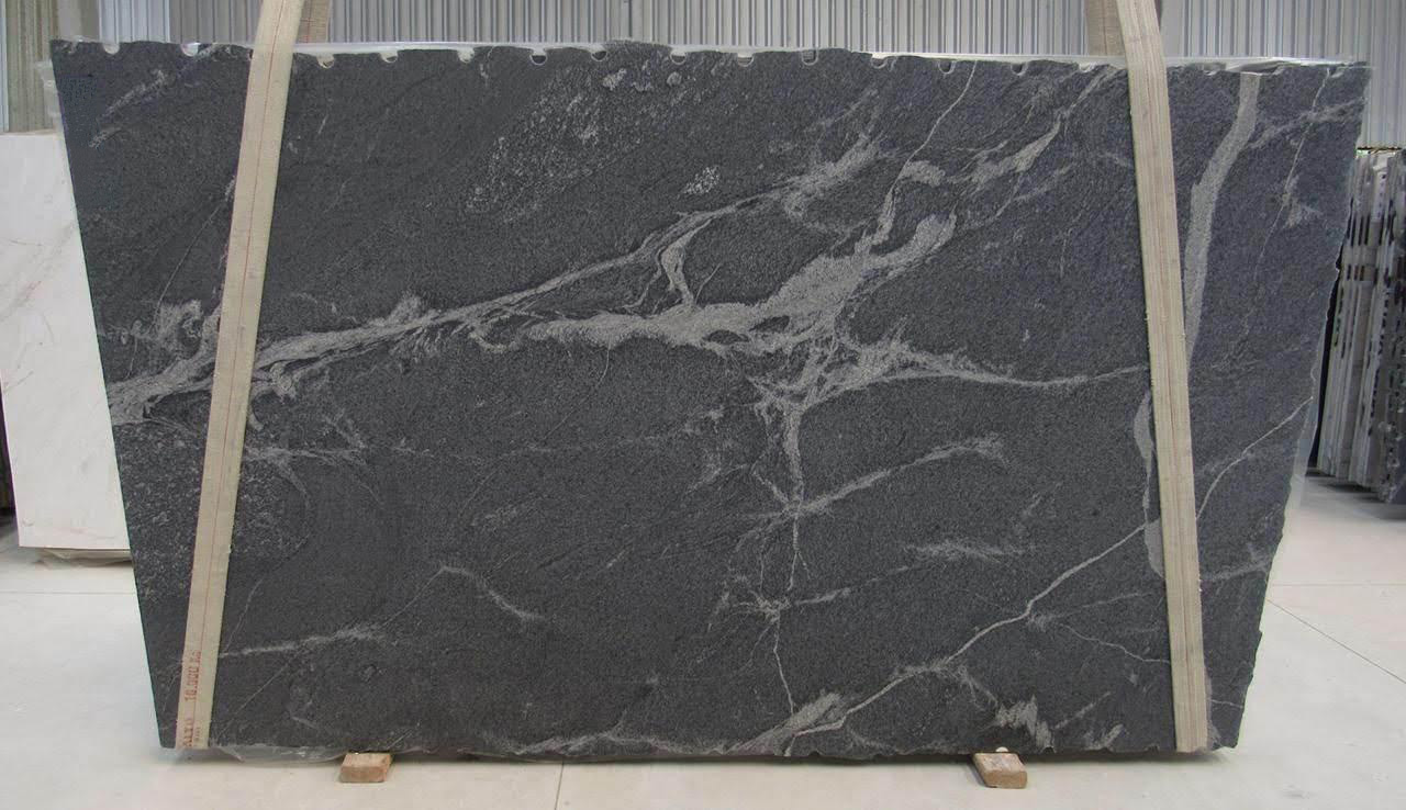 Silver Grey Leather Granite Slab