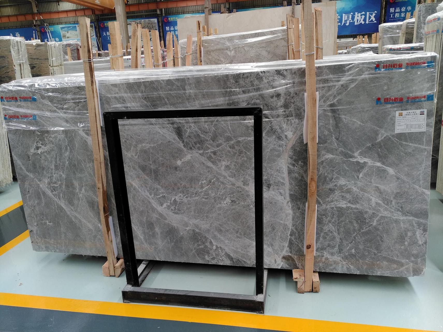 Silver Mink Marble Slab & Tile China Grey Polished Tile For Floor & Wall