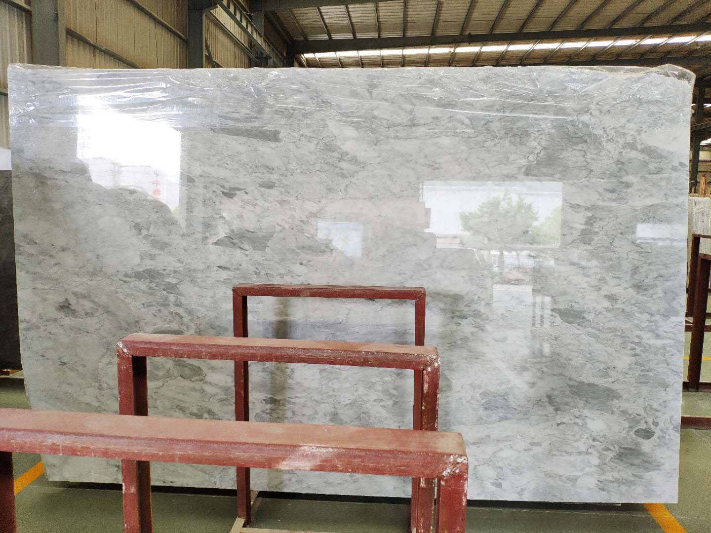 Silver Shadow Marble slab Grey Polished Marble Flooring Tile
