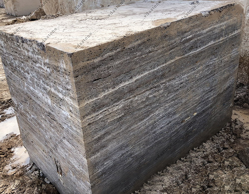 Silver Travertine Block