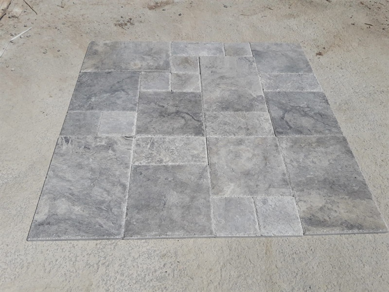 Silver Travertine Tiles Paver