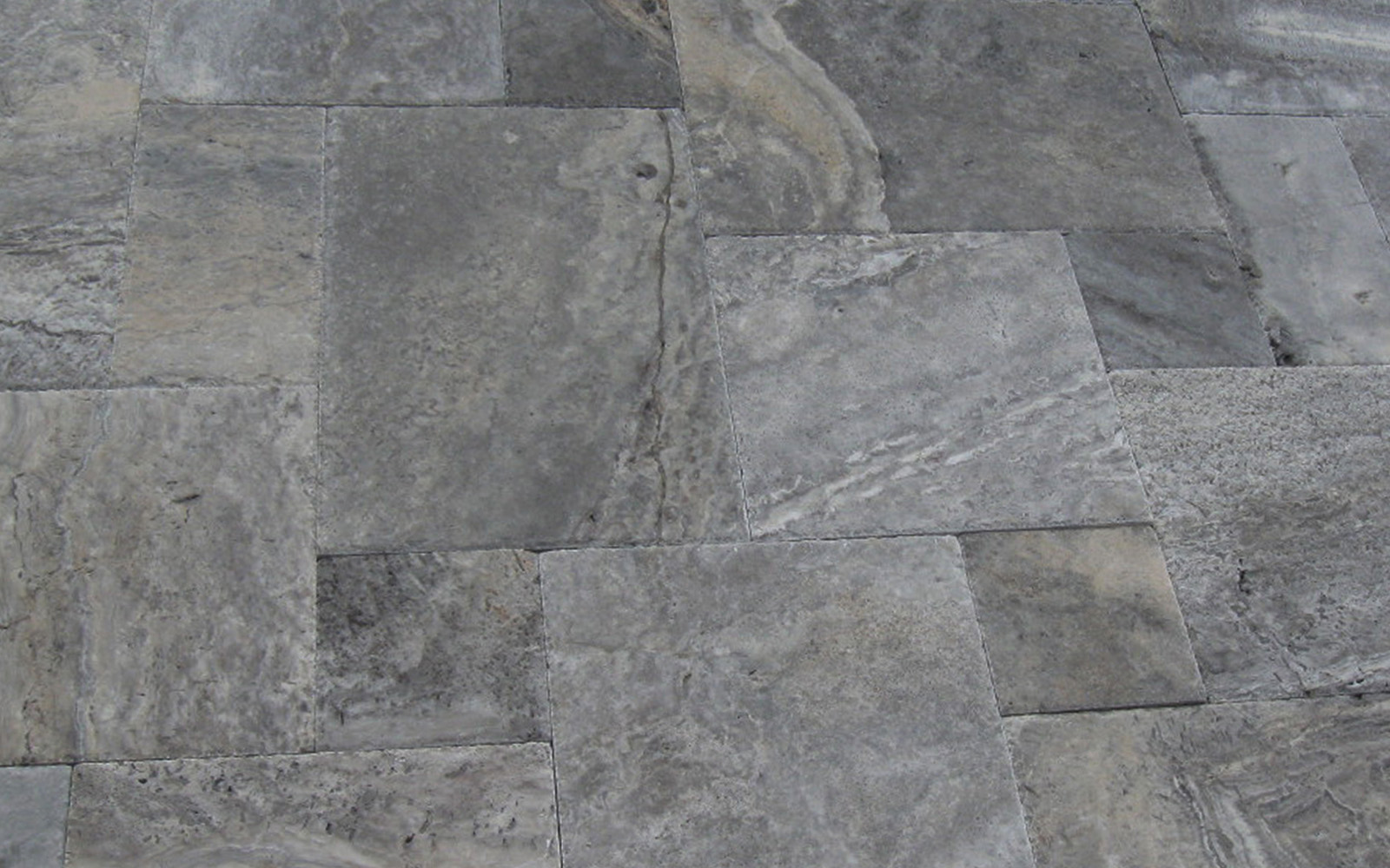 Silver Travertine French Pattern Set