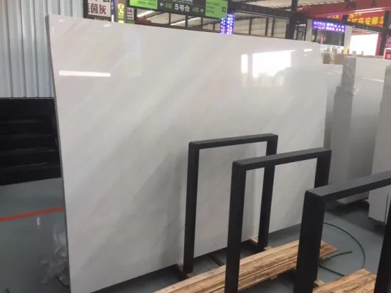 Polished Sivec White Marble Stone Slab