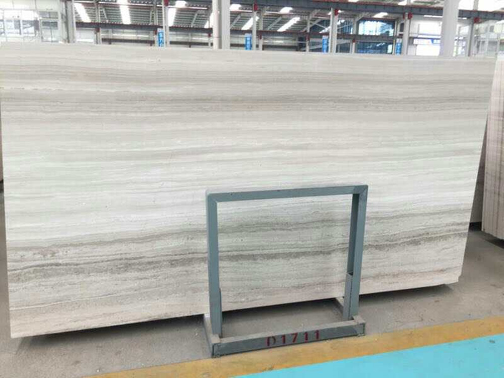 Chinese White Marble wood big slabs for projects