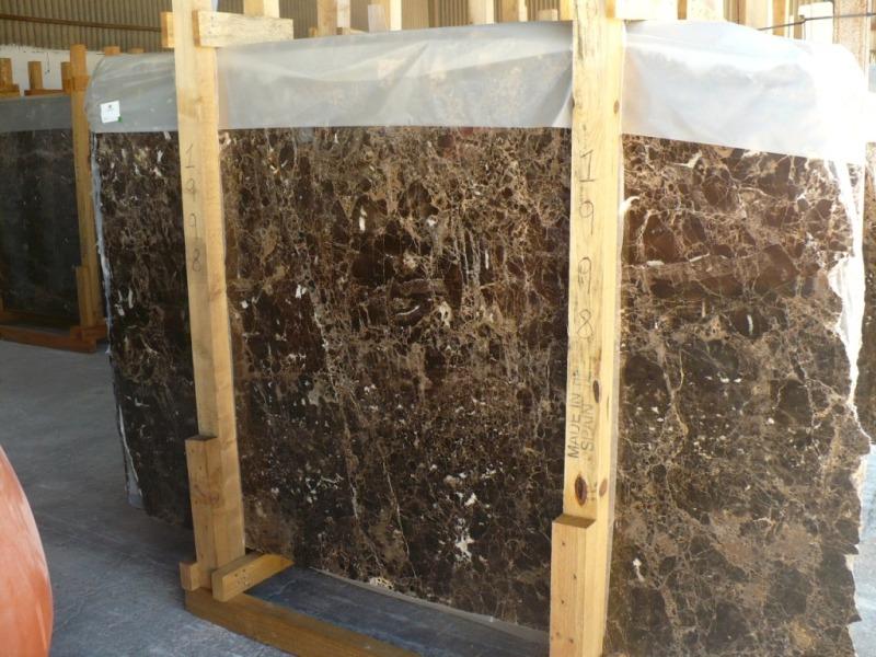Dark Emperador marble slabs Standard range