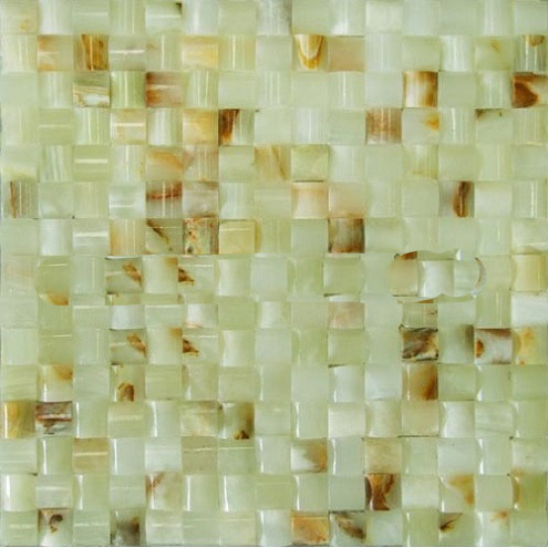 3D Small Concave series green onyx mosaic