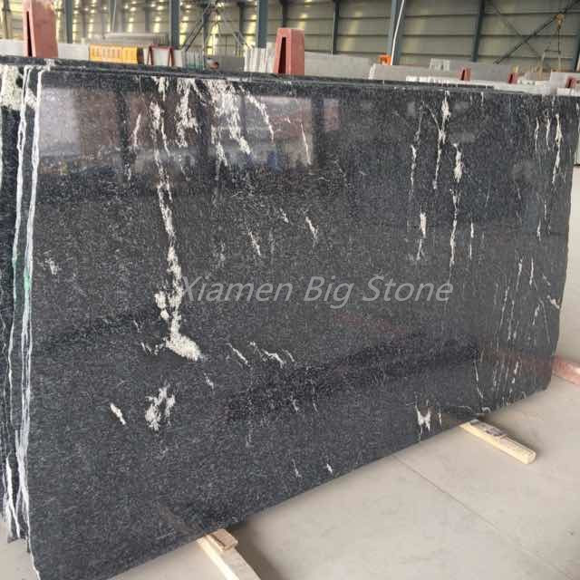 Polished Snow Grey Granite Slab