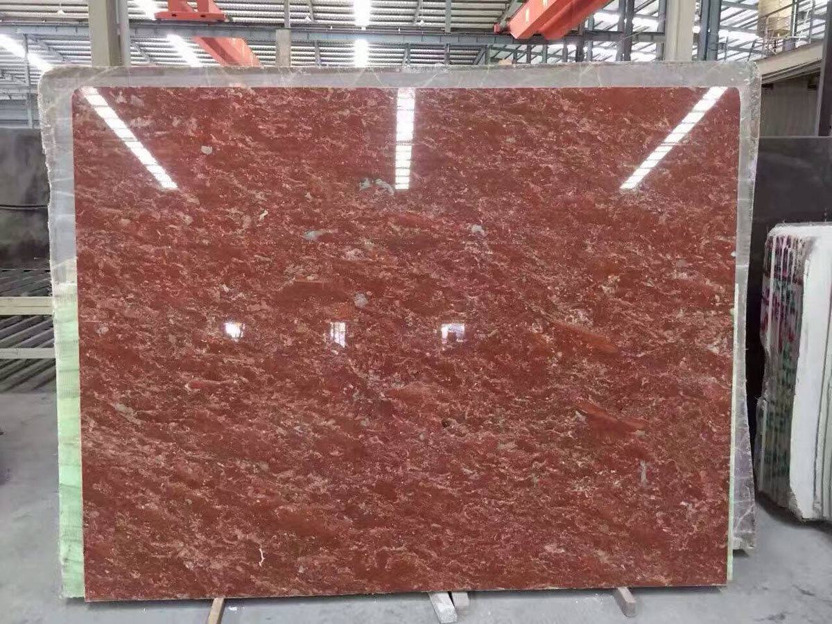 Spanish Rose Red Marble Polished Slabs for Decor