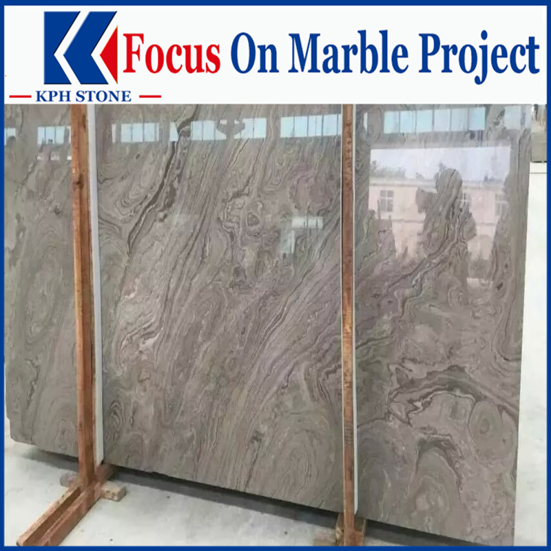 China Spray Wooden Eramosa Marble slabs for Legend Palace Hotel