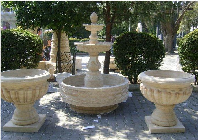 Marble White Stone Fountain