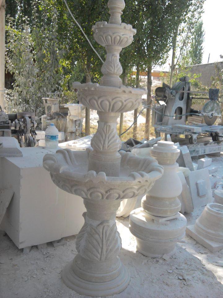 White Marble Stone Fountain