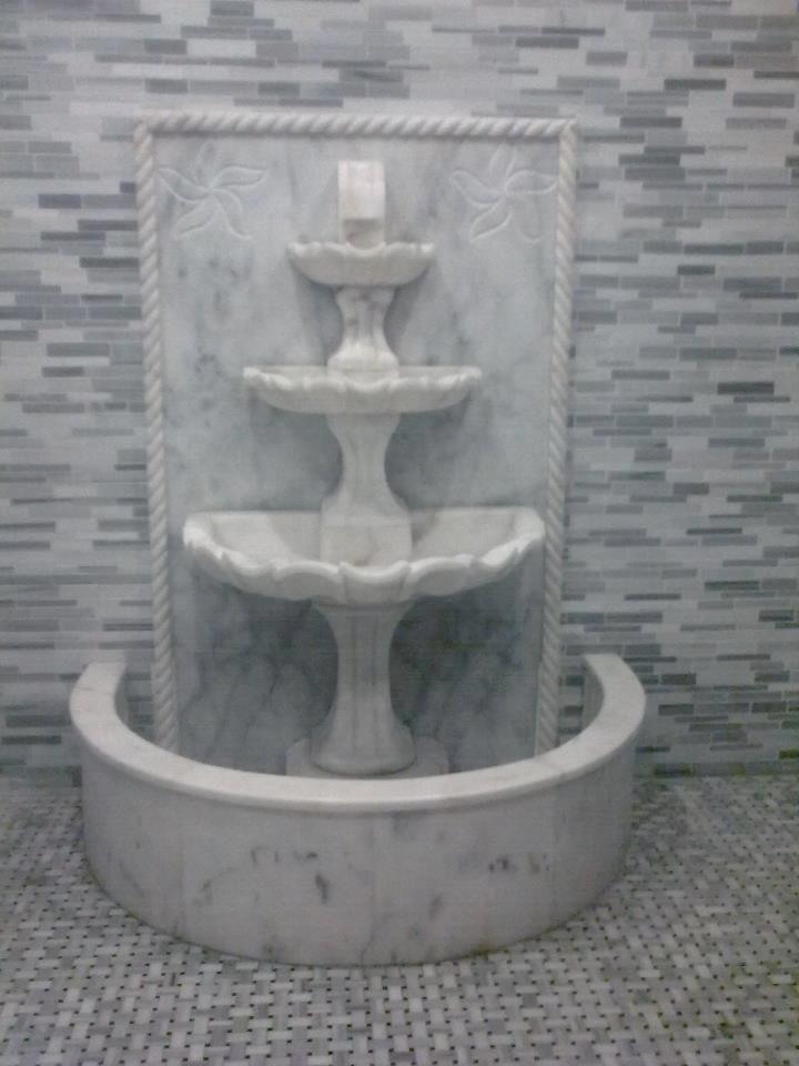 Marble Stone Fountain White Fountain