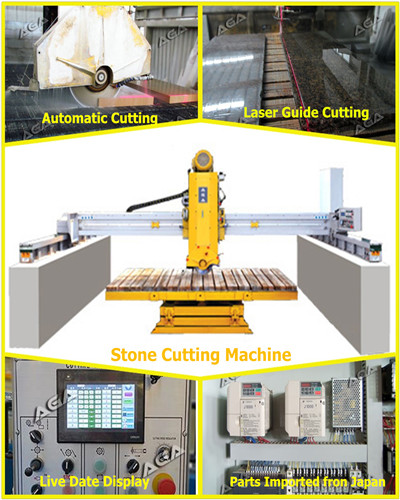 Automatic Stone Cutting Machine for Granite Tiles