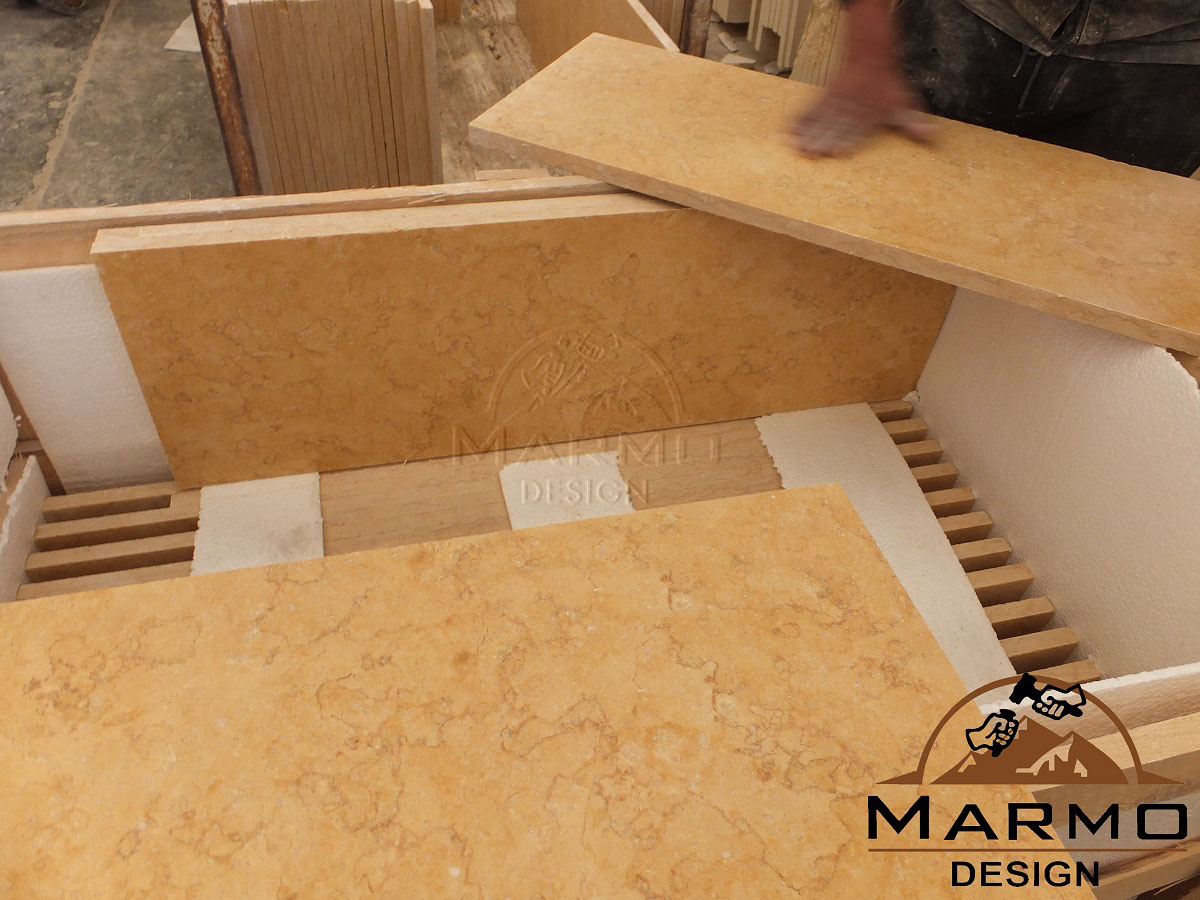 Sunny Dark Marble Flooring Tiles