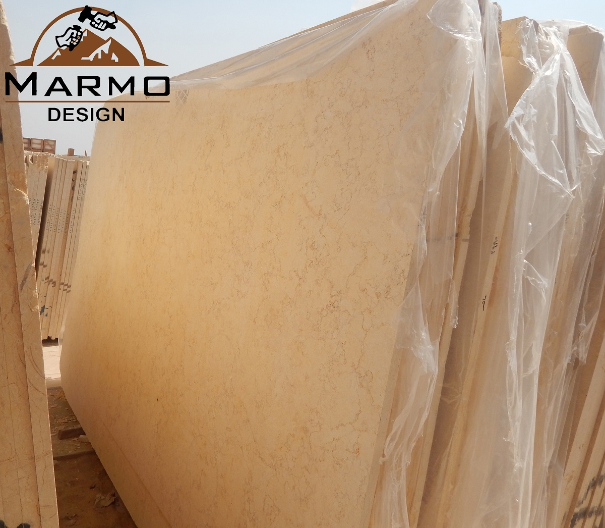 Sunny Medium Brushed Marble Slabs