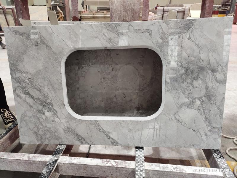 Brazil Super White Quartzite Kitchen Countertops Grey Quartzite Marble Countertops
