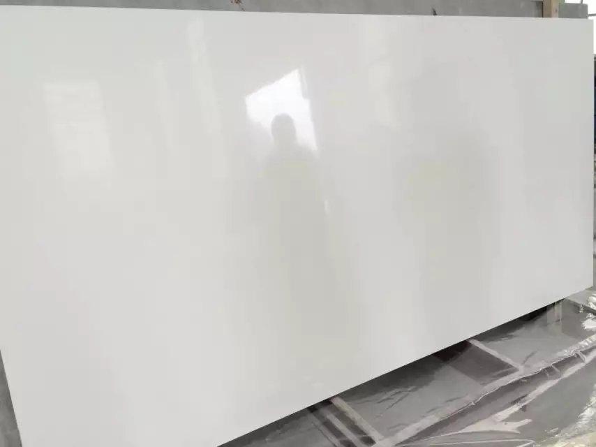 Super white color quartz stone slabs