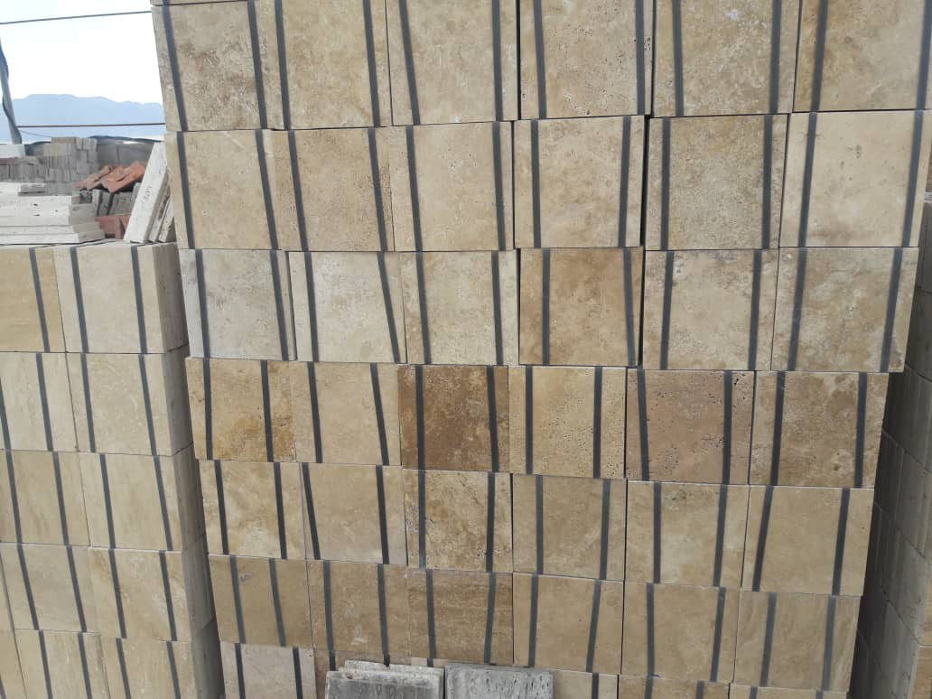Beige Travertine Tiles Packing
