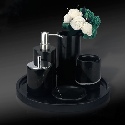Black Marquina Marble Bathroom Set