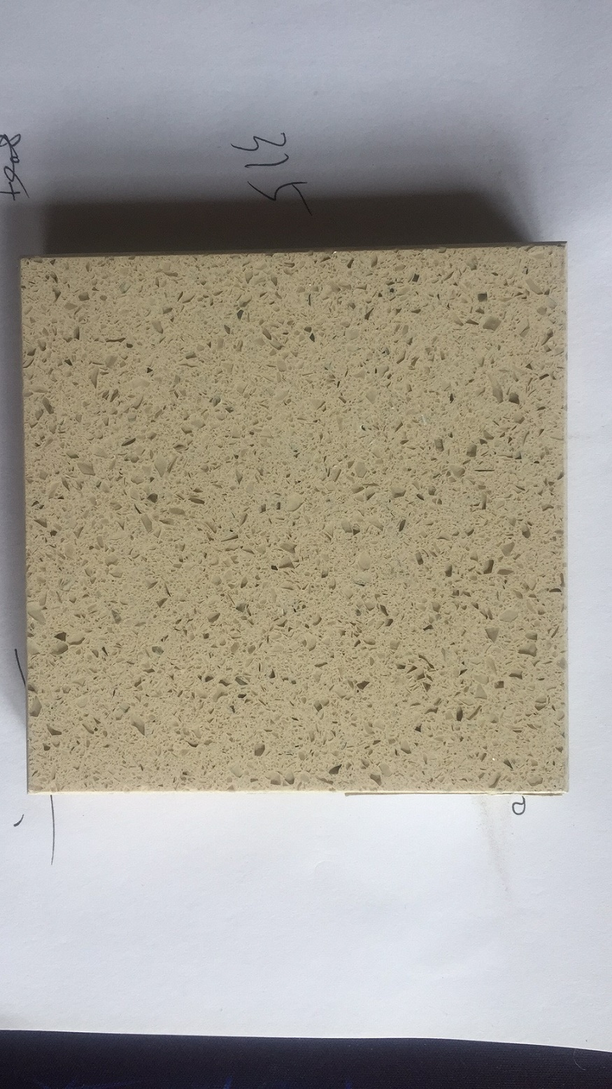 Beige color artificial quartz stone