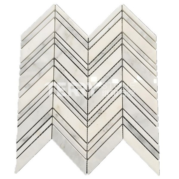 Marble Mosaic Tiles for floor and wall covering  interior decoration with V style