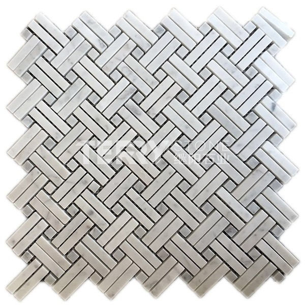 Marble Mosaic Tiles for floor wall covering  interior decoration with liner style
