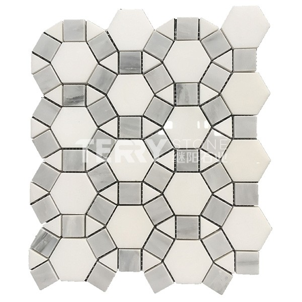 Marble Mosaic Tiles for floor wall covering  interior decoration with V style