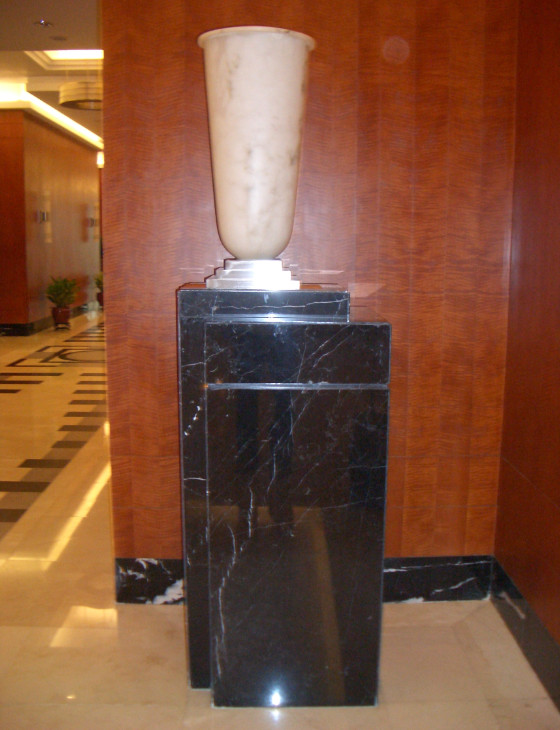 Black Polished Marble Table