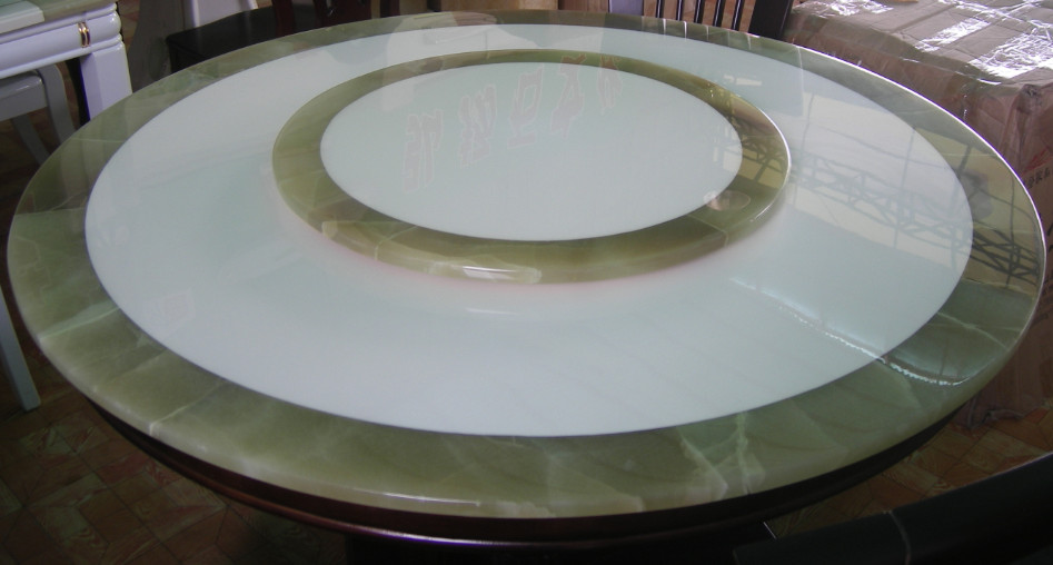 White and Green Onyx Table Tops