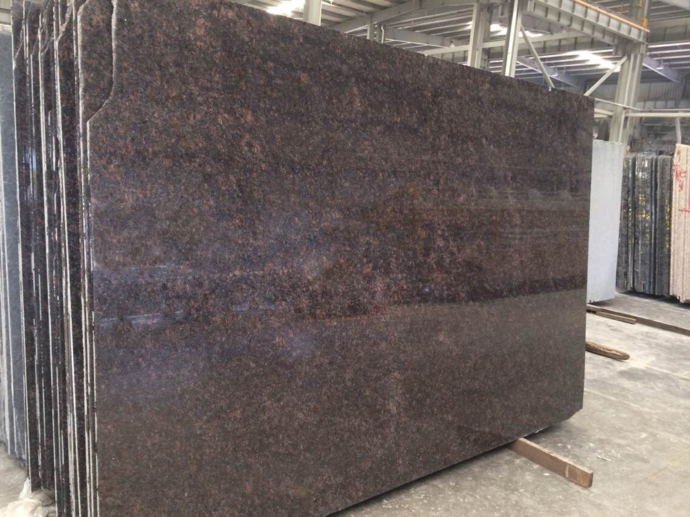 Tan Brown Polished Granite Slabs from India