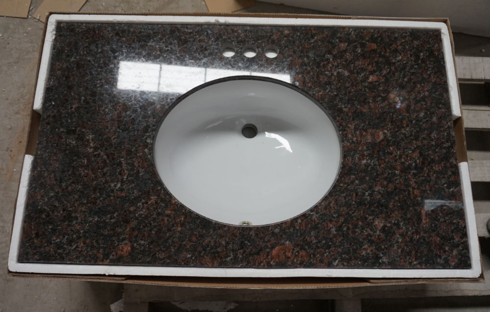 Tan Brown Granite Bathroom Vanity Tops