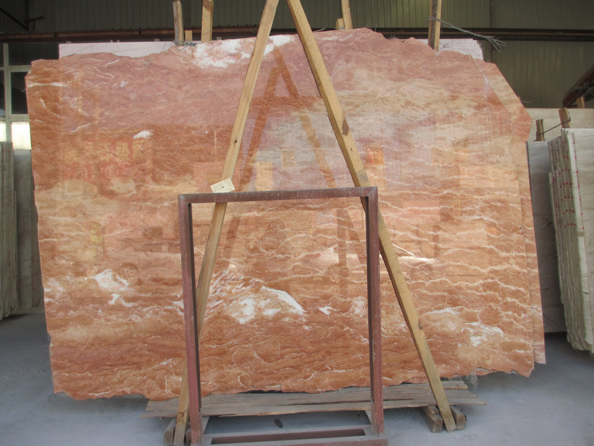 Tea Rose Marble Slabs Competitive Red Marble Slabs