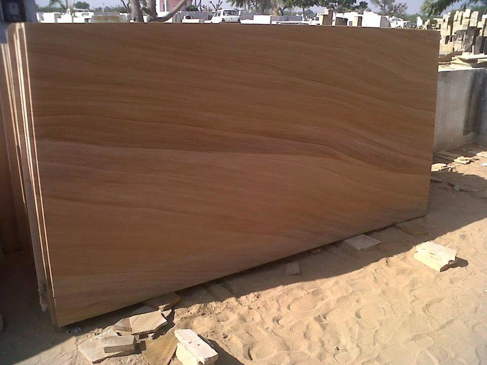 Teakwood Sandstone Slabs Indian Polished Sandstone Slabs