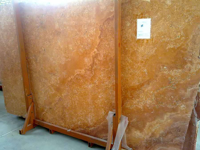 Iran Yellow Travertine Slabs & Tiles Yellow Polished