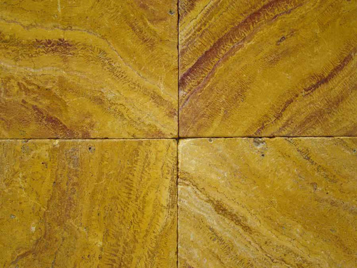 Iran Yellow Travertine Tumbled Tiles Floor Tiles