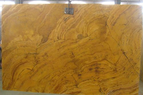 Honed Yellow Travertine Slab