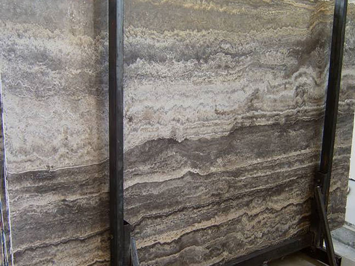 Persian Silver Travertine Slabs Iran Grey Travert