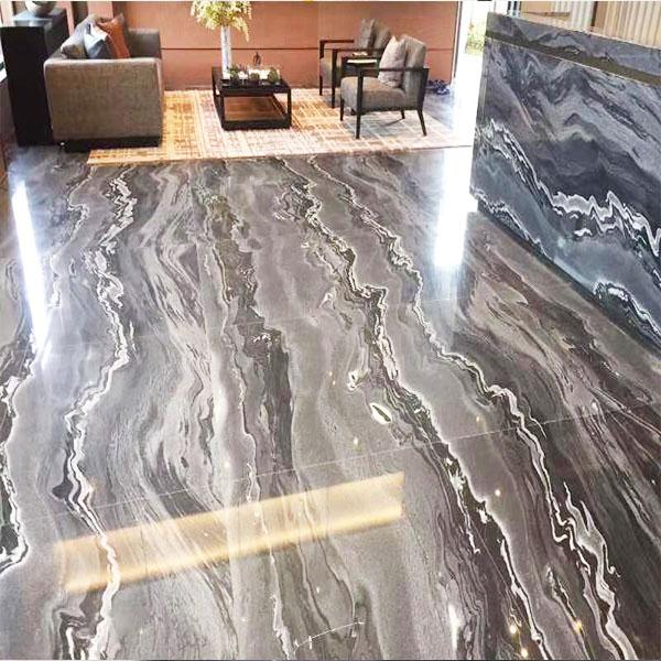 Tesla black marble tile