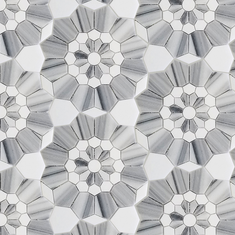 Thassos Marble Decorative Mosaic Tile