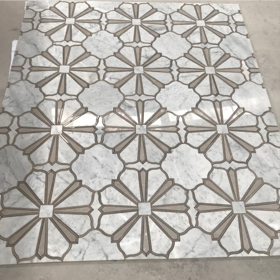 Floor Tiles Waterjet Marble Mosaic