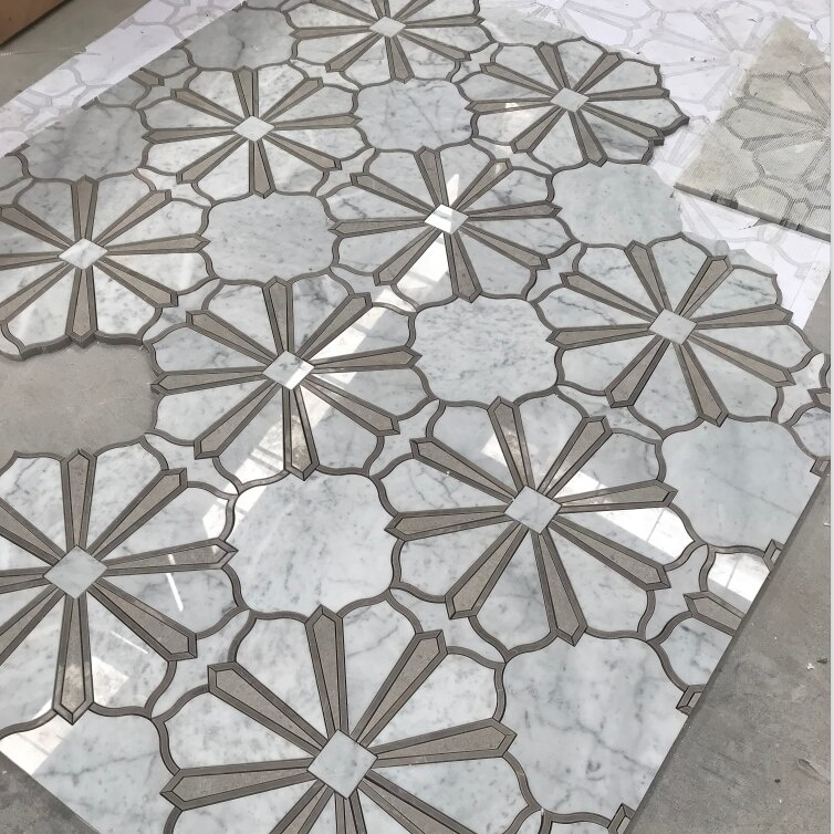 Ianca Marblea White Stone Hexagon Mosaic