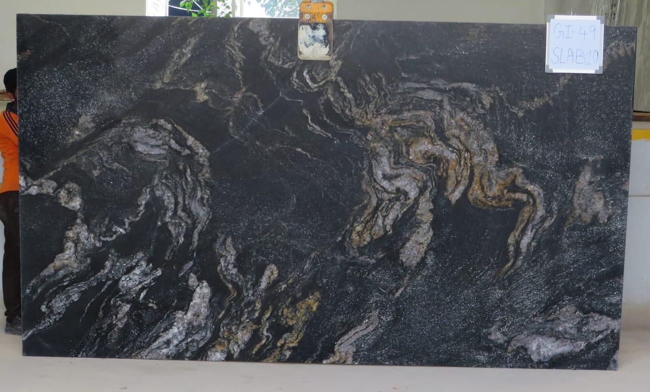 Cosmic Black Granite Slabs