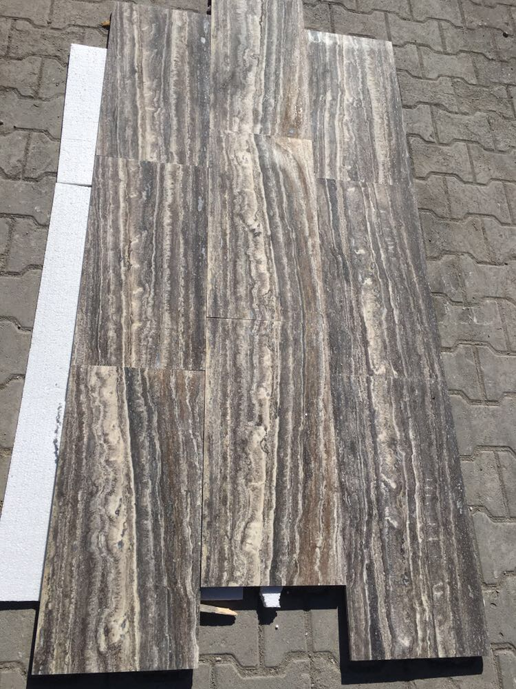Titanium Silver Travertine