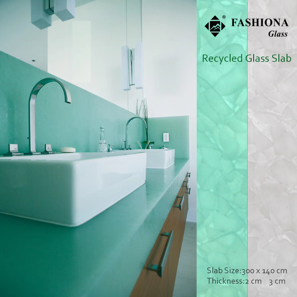 Translucent Recycled Glass Slabs