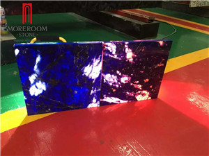 Backlite Translucent Blue Onyx Wall Tile with Fiberglass or Glass