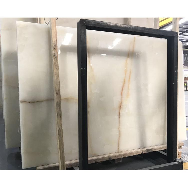 Translucent Panel Marble White Onyx
