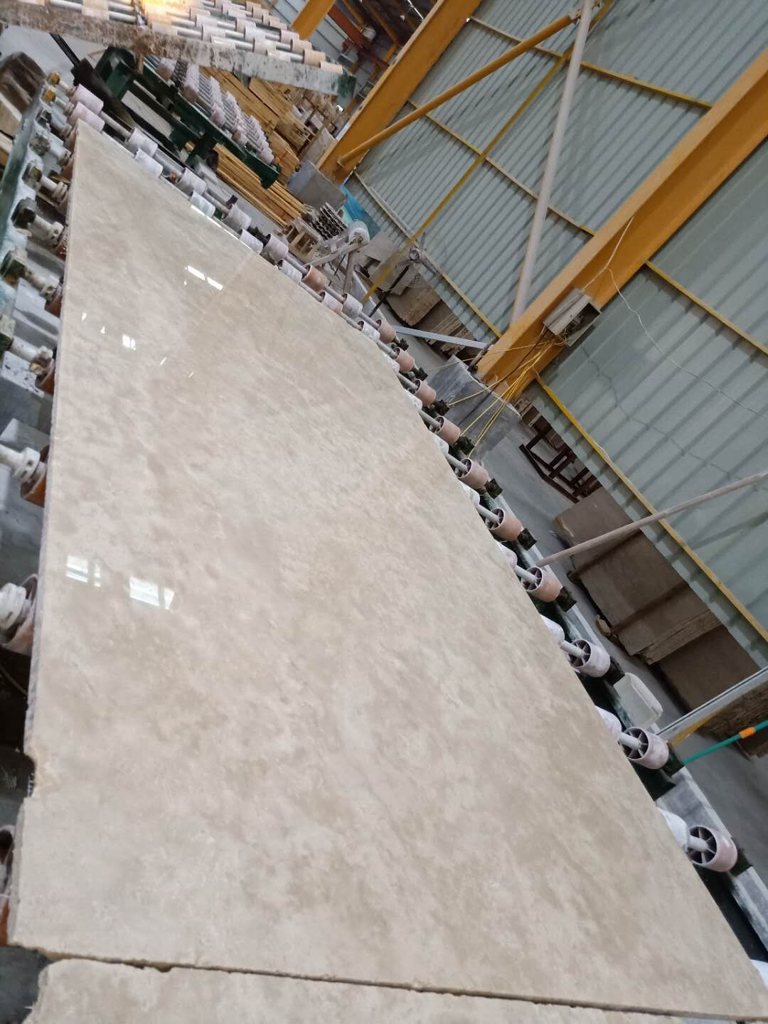 light ivory beige travertine slab