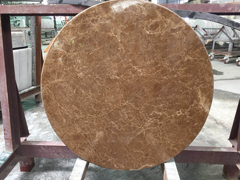 Thundra Grey Marble Grey Emparador Marble  Brown Marble Round Table