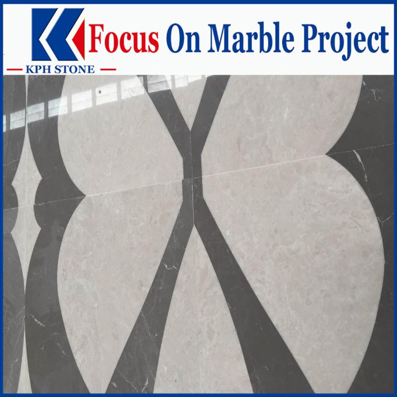 Ottoman Beije beige marble waterjet tiles for Jumirah hotels
