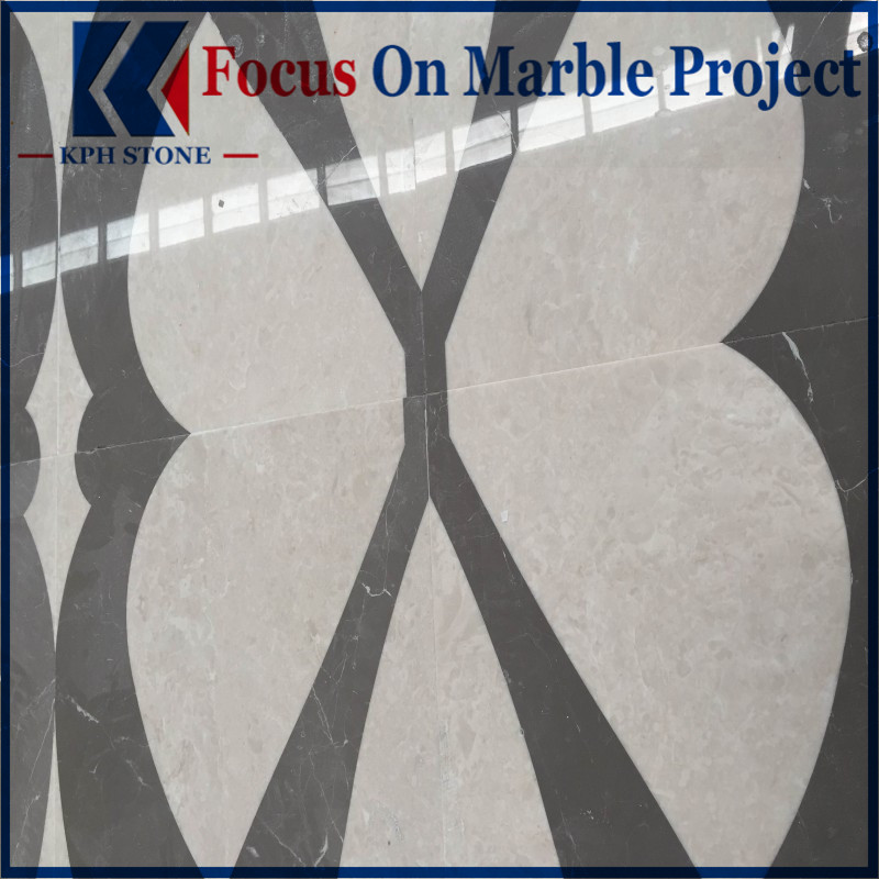 Ultraman Beige Marble Waterjet Patterns